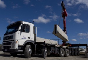cement concrete barriers move Brisbane